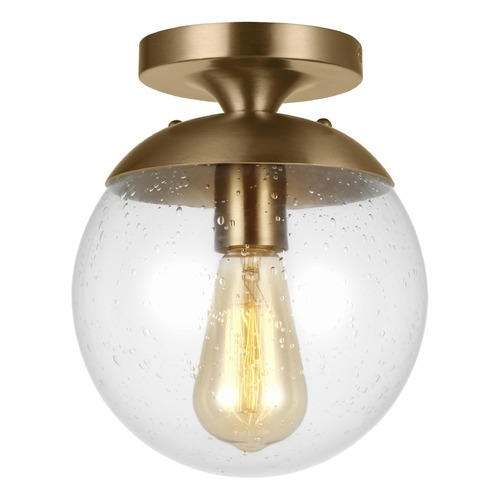 Sea Gull Lighting Sea Gull Lighting Leo - Hanging Globe Satin Bronze LED Semi-Flushmount Light 7501801EN7-848
