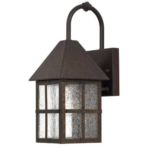 Minka Lavery Outdoor Wall Light with Clear Glass in Rust Finish 8581-51