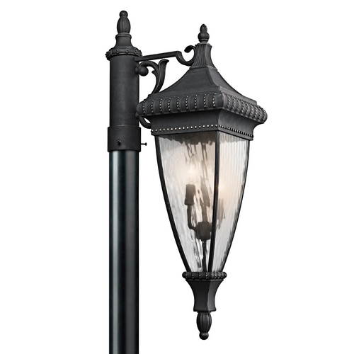 Kichler Lighting Kichler Post Light with Clear Glass in Black W/gold Finish 49133BKG