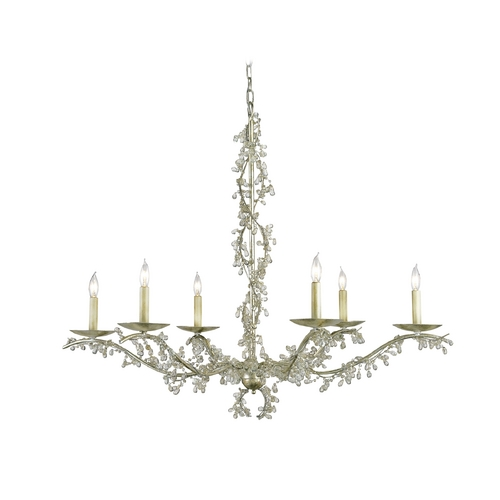 Currey and Company Lighting Chandelier in Silver Granello Finish 9178