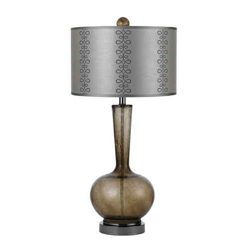 AF Lighting Table Lamp with Grey Shade in Grey Finish 7910-TL