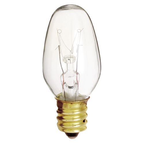 Satco Lighting Incandescent C7 Light Bulb Candelabra Base Dimmable S3691