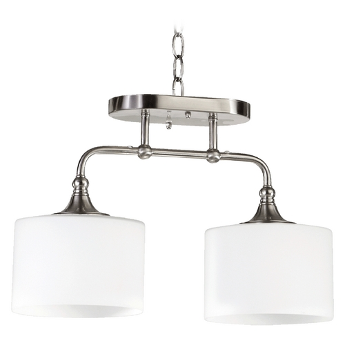 Quorum Lighting Quorum Lighting Rockwood Satin Nickel Semi-Flushmount Light 3290-2-65