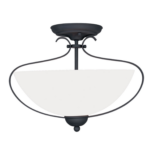 Livex Lighting Livex Lighting Brookside Black Semi-Flushmount Light 4798-04