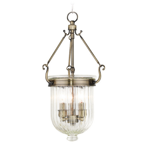 Livex Lighting Livex Lighting Coventry Antique Brass Mini-Pendant Light with Bowl / Dome Shade 50515-01