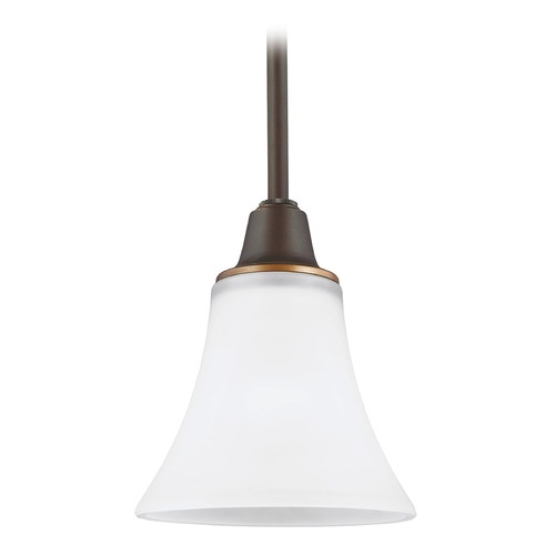 Sea Gull Lighting Sea Gull Lighting Metcalf Autumn Bronze Mini-Pendant Light with Bell Shade 6113201-715