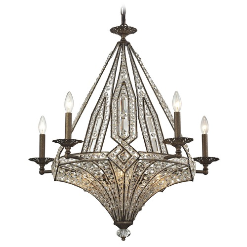 Elk Lighting Elk Lighting Jausten Antique Bronze Chandelier 11785/5+5