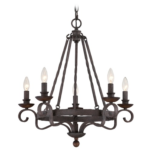 Quoizel Lighting Quoizel Noble Rustic Black Chandelier NBE5005RK