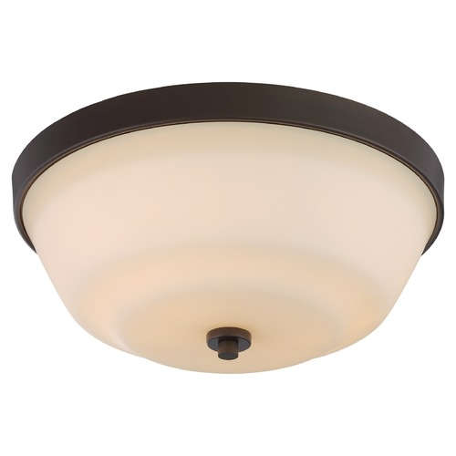 Nuvo Lighting Nuvo Lighting Willow Aged Bronze Flushmount Light 60/5904