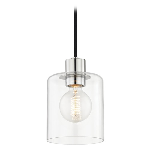 Mitzi by Hudson Valley Neko Polished Nickel Mini-Pendant Light Mitzi by Hudson Valley H108701-PN