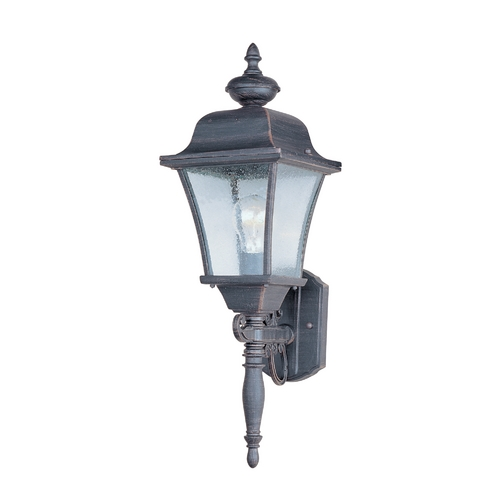 Maxim Lighting Outdoor Wall Light with Clear Glass in Rust Patina Finish 1068RP