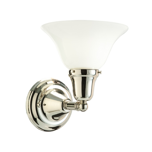 Hudson Valley Lighting Sconce with White Glass in Old Bronze Finish 581-OB-415M