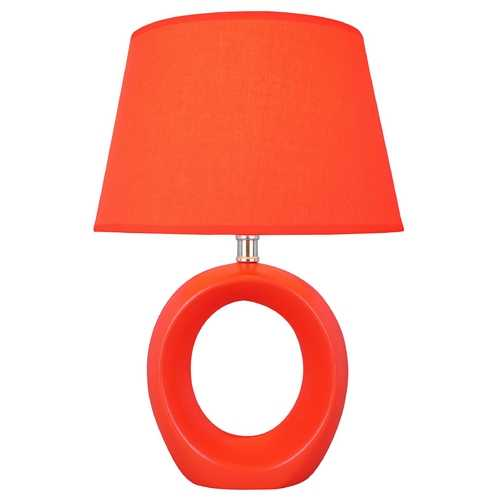 Lite Source Lighting Lite Source Lighting Viko Orange Table Lamp with Empire Shade LS-20585ORN