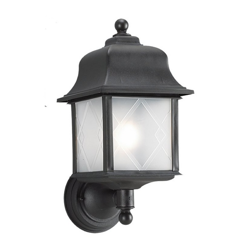 Sea Gull Lighting Outdoor Wall Light with White Acrylic in White Finish 88103-12