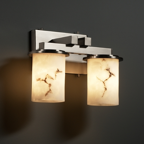 Justice Design Group Justice Design Group Lumenaria Collection Bathroom Light FAL-8772-10-NCKL
