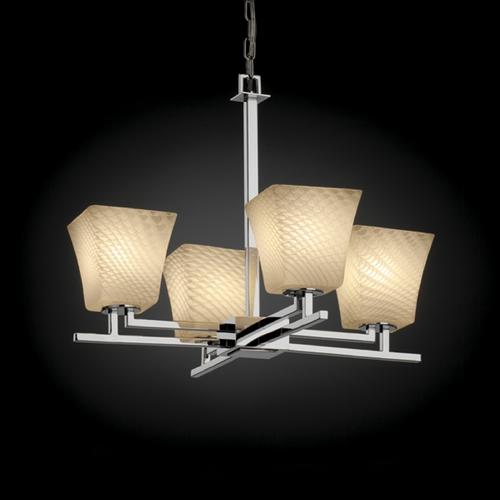Justice Design Group Justice Design Group Fusion Collection Chandelier FSN-8700-40-WEVE-CROM