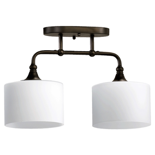 Quorum Lighting Quorum Lighting Rockwood Oiled Bronze Semi-Flushmount Light 3290-2-86
