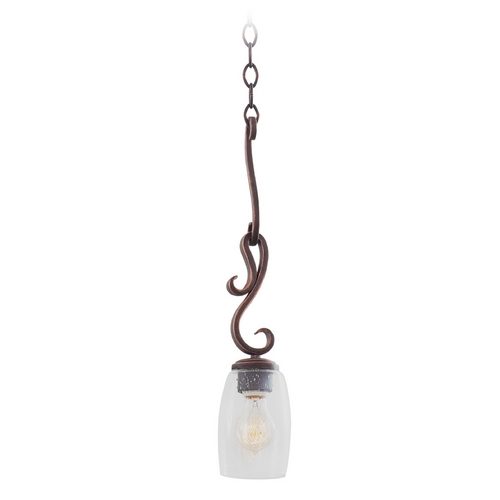 Kalco Lighting Seeded Glass Mini-Pendant Light Copper Kalco Lighting 7206AC
