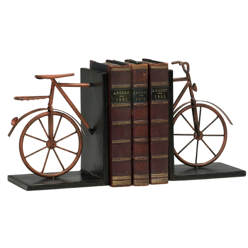 Cyan Design Cyan Design Bicycle Muted Rust Bookend 02796