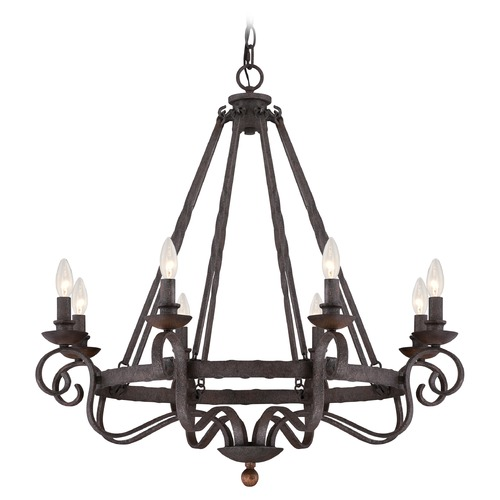 Quoizel Lighting Quoizel Noble Rustic Black Chandelier NBE5008RK