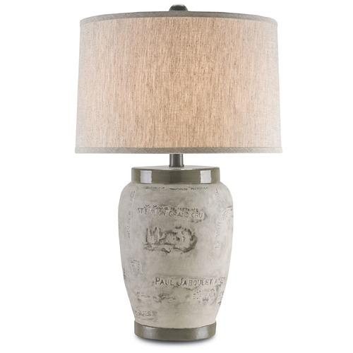 Currey and Company Lighting Currey and Company Madura Charcoal Brown Table Lamp with Drum Shade 6778