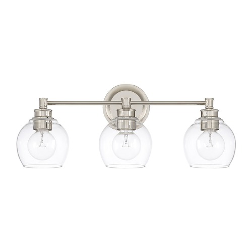 Capital Lighting Capital Lighting Mid-Century Polished Nickel Bathroom Light 121131PN-426