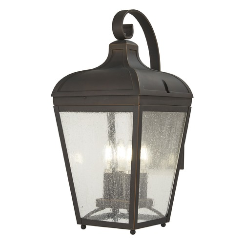 Minka Lavery Minka Lavery Marquee Oil Rubbed Bronze W/ Gold Highlights Outdoor Wall Light 72482-143C