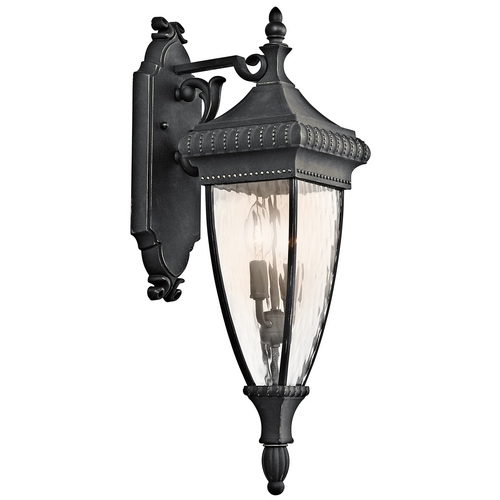 Kichler Lighting Kichler Outdoor Wall Light with Clear Glass in Black W/gold Finish 49131BKG