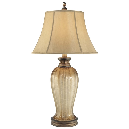 Minka Lavery Table Lamp with Beige / Cream Shade in Patina Iron Finish 4140-2-573