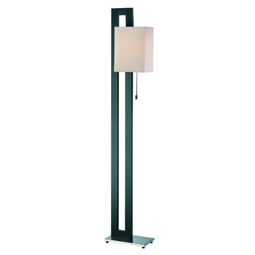 Lite Source Lighting Lite Source Benito Natural Black Floor Lamp with Rectangle Shade LS-8837