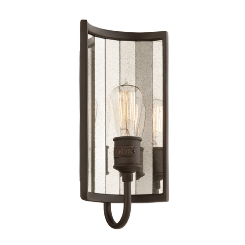 Troy Lighting Sconce Wall Light in Brooklyn Bronze Finish B3141