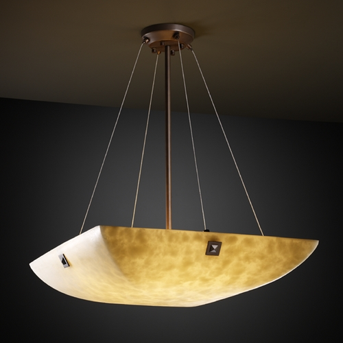 Justice Design Group Justice Design Group Clouds Collection Pendant Light CLD-9662-25-DBRZ-F4