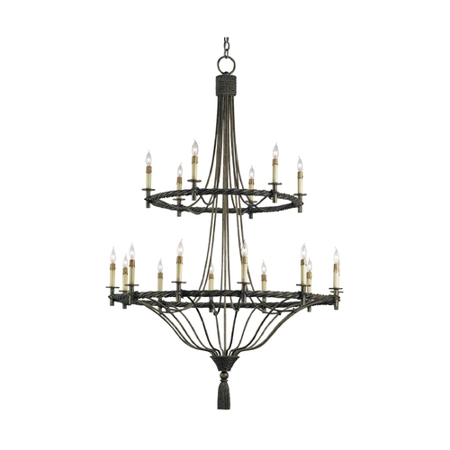 Currey and Company Lighting Chandelier in Pyrite Bronze Finish 9174