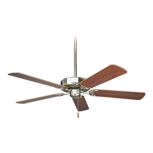 Progress Lighting Progress Ceiling Fan Without Light in Brushed Nickel Finish P2501-09