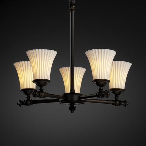 Justice Design Group Justice Design Group Limoges Collection Chandelier POR-8520-20-PLET-DBRZ