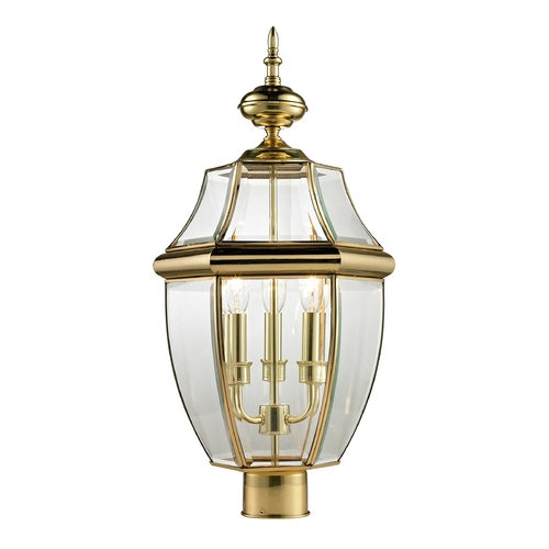 Cornerstone Lighting Cornerstone Lighting Ashford Antique Brass Post Light 8603EP/85
