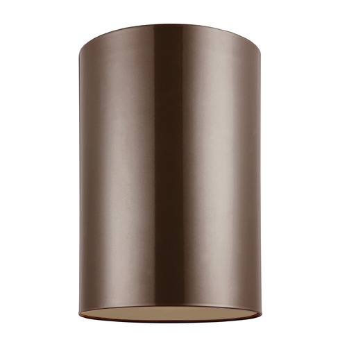 Sea Gull Lighting Sea Gull Lighting Outdoor Bullets Bronze Close To Ceiling Light 7813901-10