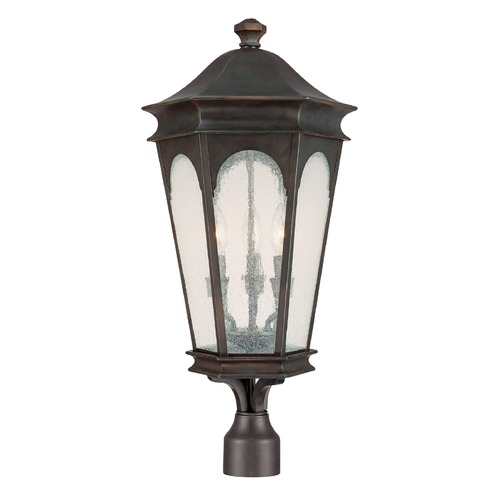 Capital Lighting Seeded Glass Post Light Bronze Capital Lighting 9387OB