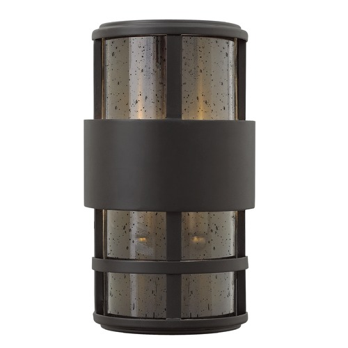 Hinkley Lighting Hinkley Lighting Saturn Satin Black Outdoor Wall Light 1908SK