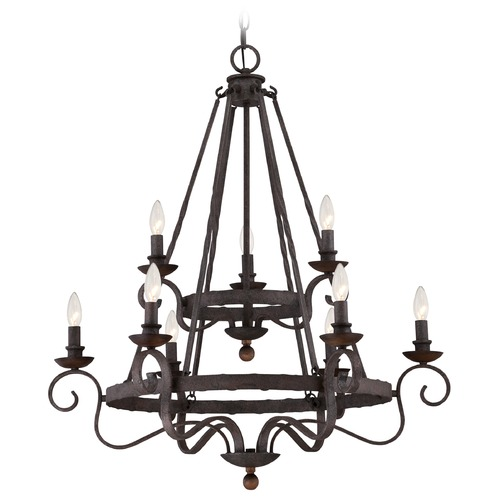 Quoizel Lighting Quoizel Noble Rustic Black Chandelier NBE5009RK