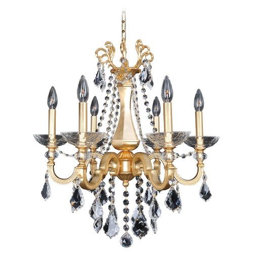 Allegri Lighting Barret 6 Light Crystal Chandelier 025450-011-FR001