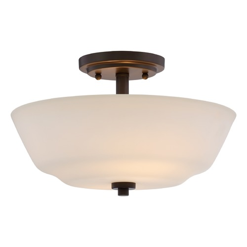 Nuvo Lighting Nuvo Lighting Willow Aged Bronze Semi-Flushmount Light 60/5906