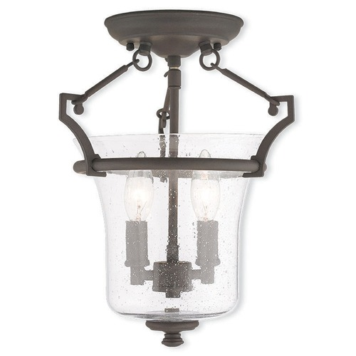 Livex Lighting Livex Lighting Buchanan Bronze Semi-Flushmount Light 50401-07