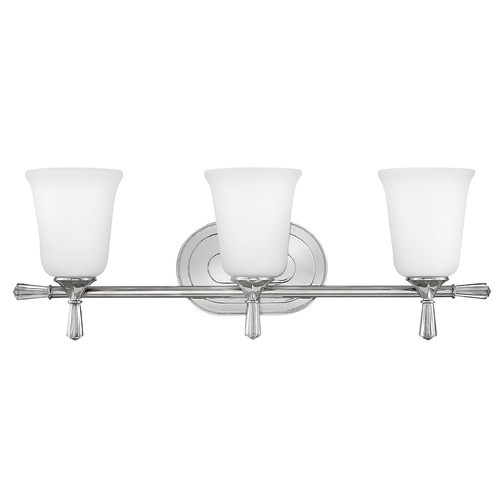 Hinkley Hinkley Blythe 3-Light Polished Nickel Bathroom Light with Etched Opal Glass 5283PN