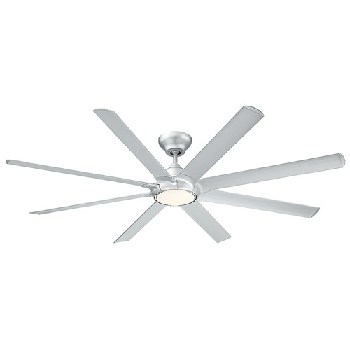 Modern Forms by WAC Lighting Modern Forms Titanium Silver 80-Inch LED Smart Ceiling Fan 2041LM 3000K FR-W1805-80L-TT