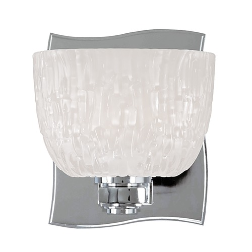 Hudson Valley Lighting Modern Sconce with White Glass in Polished Chrome Finish 2661-PC