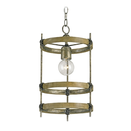 Currey and Company Lighting Pendant Light in Pyrite Bronze/chestnut Finish 9173
