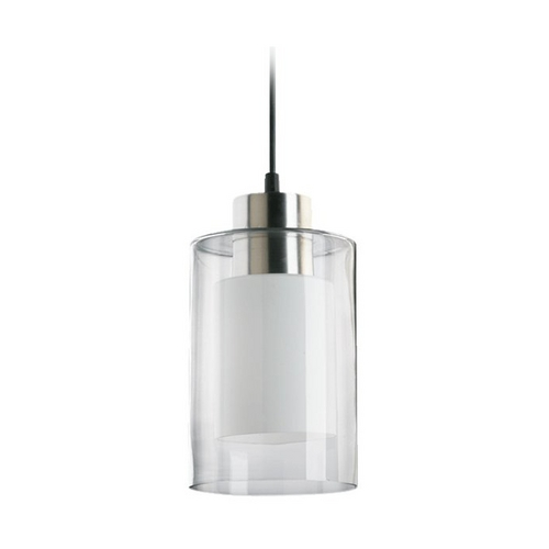 Quorum Lighting Modern Mini-Pendant Light with Double Cylinder Glass Shades 882-65