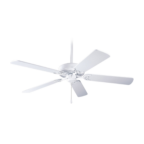 Progress Lighting Progress Ceiling Fan Without Light in White Finish P2501-30W