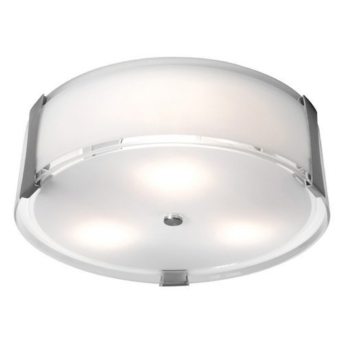 Access Lighting Access Lighting Tara Brushed Steel Flushmount Light C50121BSOPLEN1226BS